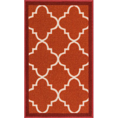 Addieville Red Area Rug Rug Size: 33 x 47