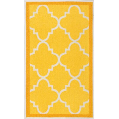 Addieville Gold Area Rug Rug Size: 1'8