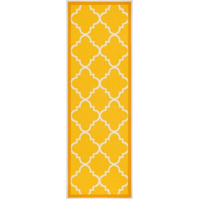 Addieville Gold Area Rug Rug Size: Runner 2 x 7