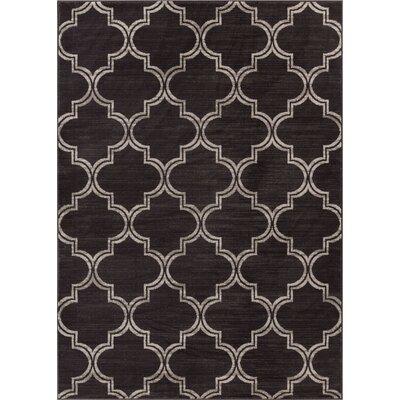 Abramowitz Charcoal Area Rug Rug Size: 710 x 910