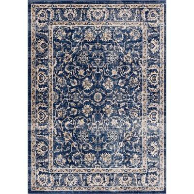 Abramowitz Blue Area Rug Rug Size: 53 x 73