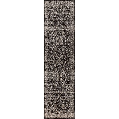 Abramowitz Charcoal Area Rug Rug Size: Runner 27 x 910