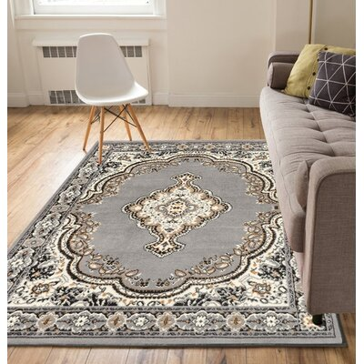 Bungalow Gray/Beige Area Rug Rug Size: 82 x 910