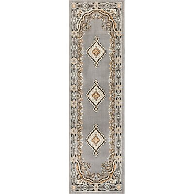 Bungalow Gray/Beige Area Rug Rug Size: 53 x 73