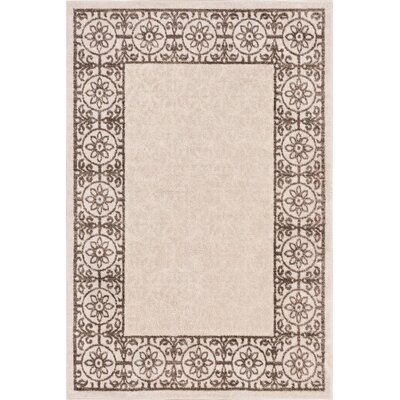 Otterville Gray/Beige Area Rug Rug Size: 5 x 7