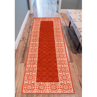 Akins Red Area Rug