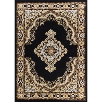 Bungalow Black Area Rug Rug Size: Runner 2 x 72