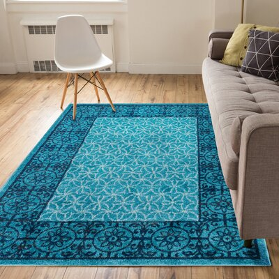 Akins Light Blue Area Rug