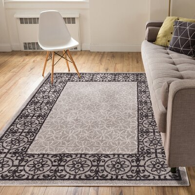 Otterville Gray Area Rug Rug Size: 5 x 7