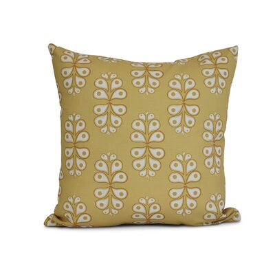 Newell Outdoor Throw Pillow Size: 20 H x 20 W x 3 D, Color: Yellow