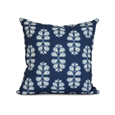 Newell Outdoor Throw Pillow Size: 16 H x 16 W x 3 D, Color: Navy Blue