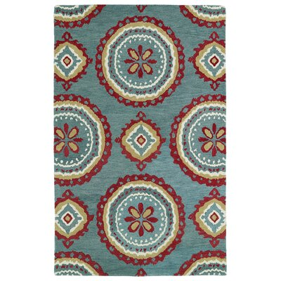 Anns Teal Area Rug Rug Size: Rectangle 9 x 12