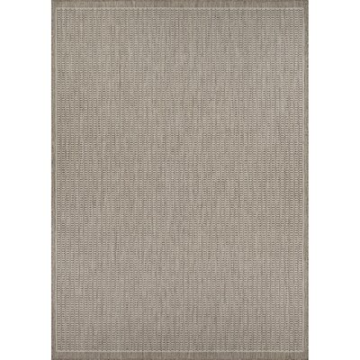 Westlund Champagne/Taupe Indoor/Outdoor Area Rug Rug Size: Rectangle 39 x 55