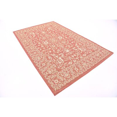 Anton Terracotta Outdoor Area Rug Rug Size: 5 x 8