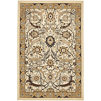 Antoinette Ivory Area Rug Rug Size: 6 x 9