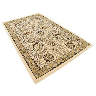 Britannia Ivory Area Rug Rug Size: Rectangle 5 x 8