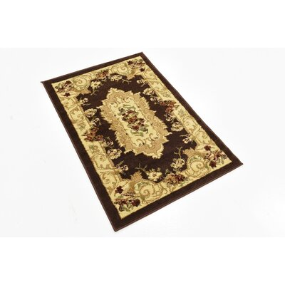 Patton Brown Area Rug Rug Size: 2'2