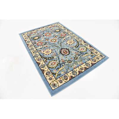 Britannia Blue Area Rug Rug Size: Rectangle 4 x 6