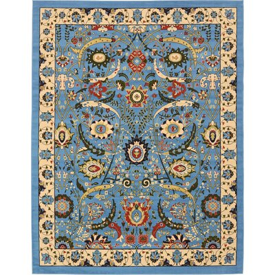 Antoinette Blue Area Rug Rug Size: Rectangle 9 x 12