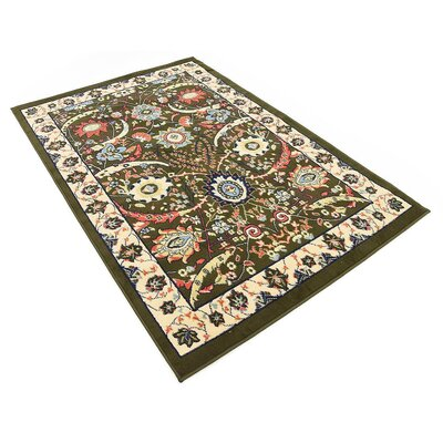 Antoinette Green Area Rug Rug Size: Rectangle 4 x 6