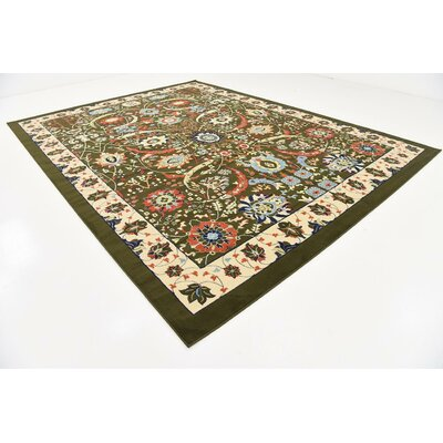 Antoinette Green Area Rug Rug Size: 10 x 13