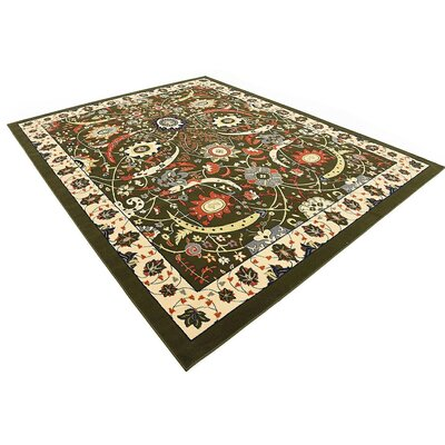 Britannia Green Area Rug Rug Size: Rectangle 8 x 10