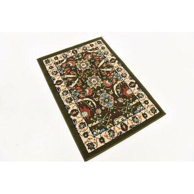 Antoinette Green Area Rug Rug Size: Rectangle 9 x 12