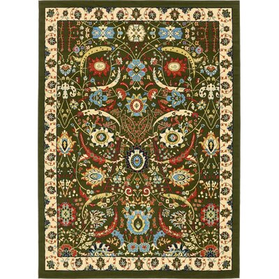 Antoinette Green Area Rug Rug Size: Rectangle 7 x 10