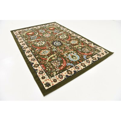 Antoinette Green Area Rug Rug Size: Rectangle 6 x 9