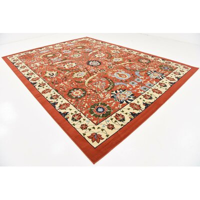 Britannia Terracotta Area Rug Rug Size: Rectangle 10 x 13