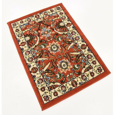 Britannia Terracotta Area Rug Rug Size: Rectangle 22 x 3