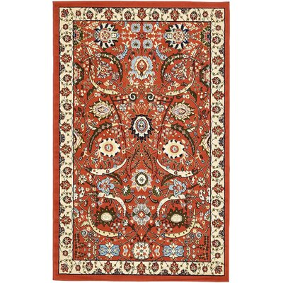 Britannia Terracotta Area Rug Rug Size: Rectangle 5 x 8