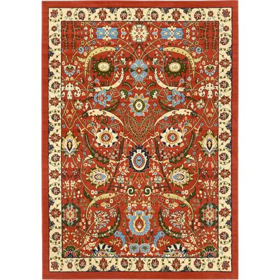 Antoinette Terracotta Area Rug Rug Size: Rectangle 7 x 10