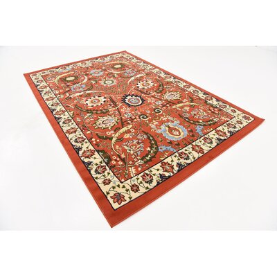 Britannia Terracotta Area Rug Rug Size: Rectangle 6 x 9