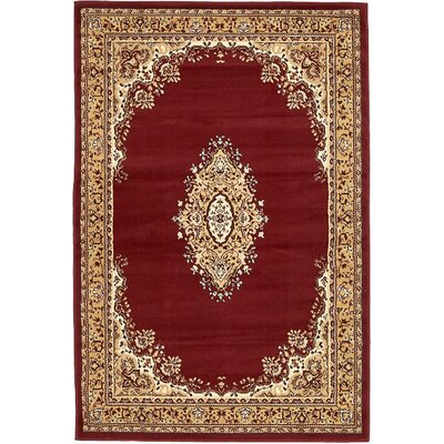 Anthony Burgundy Area Rug Rug Size: 4 x 6