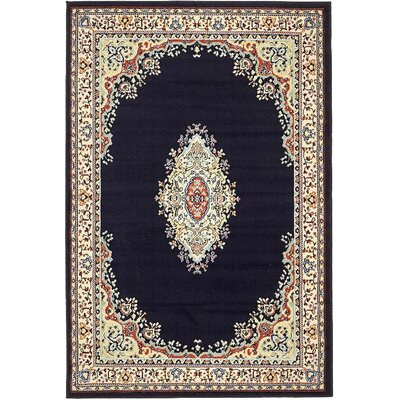 Astral Navy Blue Area Rug Rug Size: 4 x 6