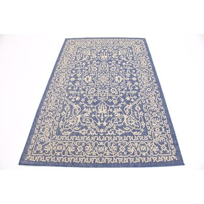 Apple Crest Blue Outdoor Area Rug