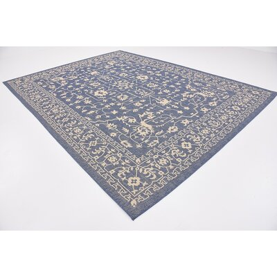Apple Crest Blue Outdoor Area Rug Rug Size: 9 x 12