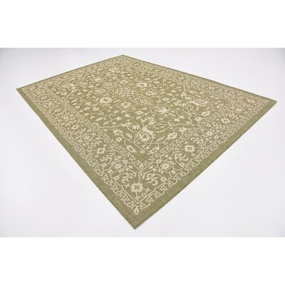 Applecrest Green Outdoor Area Rug Rug Size: 7 x 10