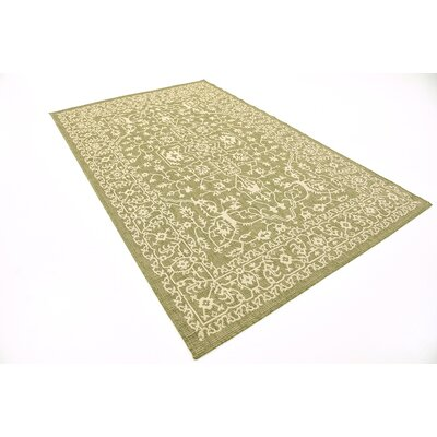 Applecrest Green Outdoor Area Rug Rug Size: 5 x 8