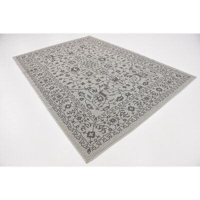 Appletree Light Gray Outdoor Area Rug Rug Size: Rectangle 7 x 10