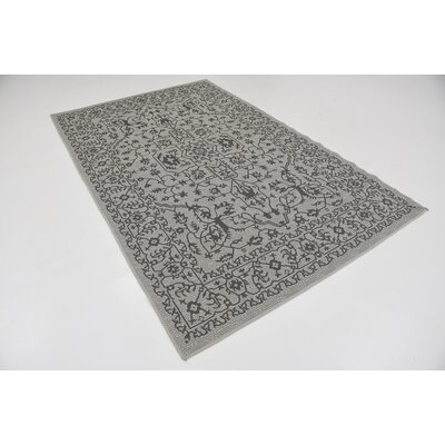 Appletree Light Gray Outdoor Area Rug Rug Size: Rectangle 5 x 8