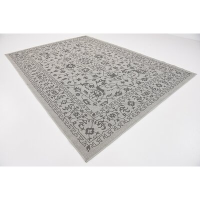 Appletree Light Gray Outdoor Area Rug Rug Size: Rectangle 8 x 114