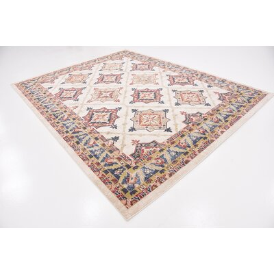 Applewood Cream Area Rug Rug Size: Rectangle 8 x 10