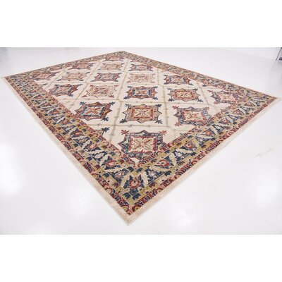 Applewood Cream Area Rug Rug Size: 9 x 12