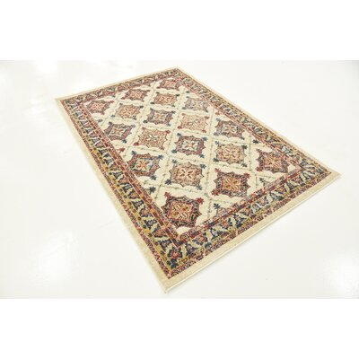 Applewood Cream Area Rug Rug Size: 4 x 6