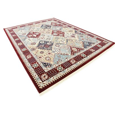 Jadyn Burgundy Area Rug Rug Size: Rectangle 8 x 10