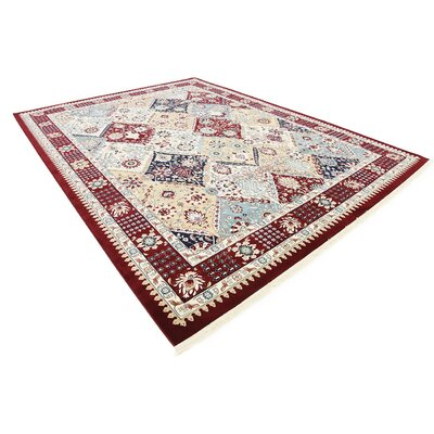 Jadyn Burgundy Area Rug Rug Size: Rectangle 10 x 13