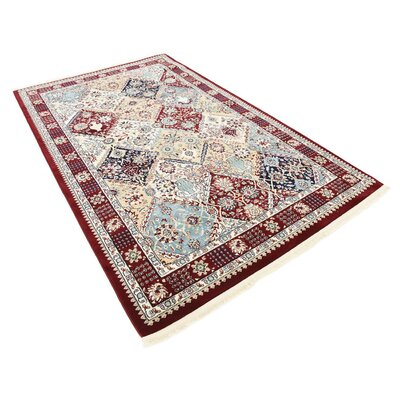 Anita Burgundy Area Rug Rug Size: Rectangle 5 x 8