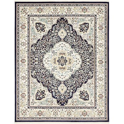 Anita Navy Blue Area Rug Rug Size: Rectangle 8 x 10